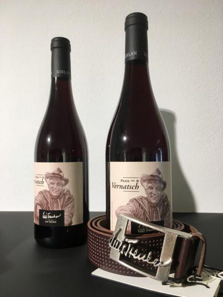 Bei der Eröffnung des Luis Trenker Stores in Wien durfte auch ein 'Luis Trenker Wein' nicht fehlen (Foto Luis Trenker)