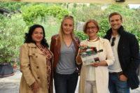 """13. Staffel von """"Soko Donau"""": Maria Happel, Lilian Klebow, Johanna Mikl-Leitner und der 'Neue' Michael Steinocher (Foto ORF/Satel Film/Hubert Mican)"""