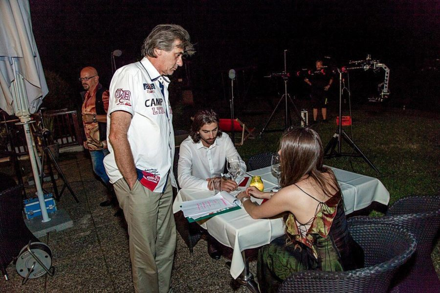 Swen Temmel mit Schauspielerin Nikita Luisa Black und Regisseur Danny Bellens 'My Jurassic Place' (Foto privat)