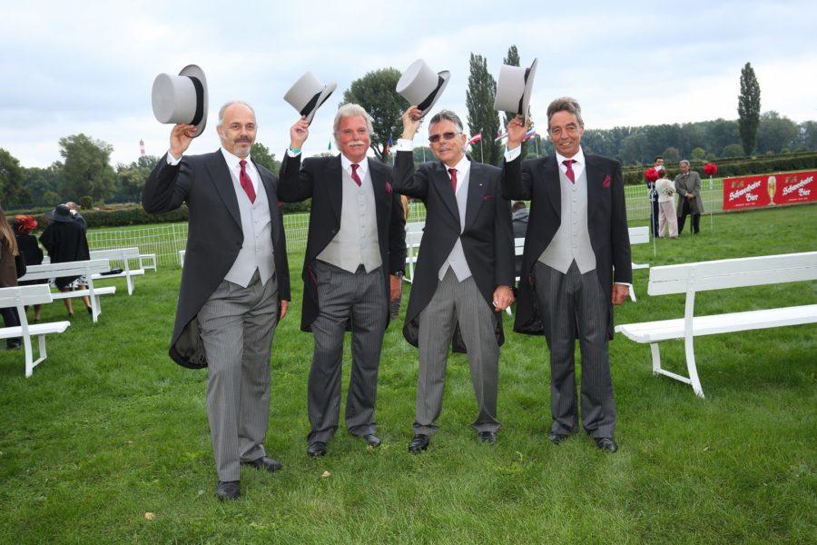 Die Veranstalter von Vienna Ascot: Ferdinand Bauer, Ronald Bocan, Walter Dreier und Attila Kamarad (Foto Moni Fellner)