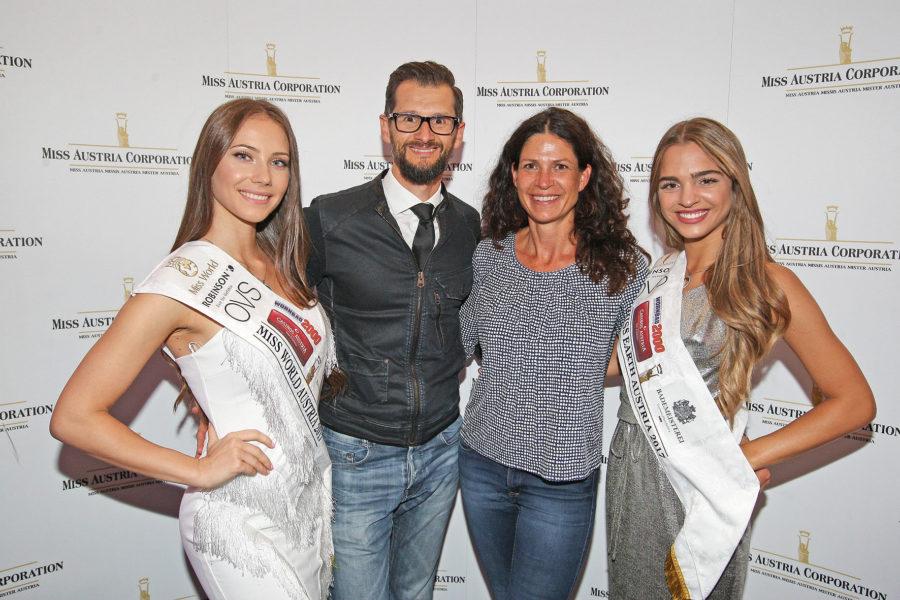 Miss World Austria 2017 Sarah Chvala, MAC Fotografen Gerry Frank und Caro Strasnik sowie Miss Earth Austria 2017 Bianca Kronsteiner (Foto MAC / Philipp Enders)