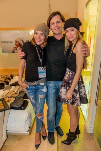 Alyssa und Christian Schwarz mit Liliana Klein, Organisatorin des FASHION Check-in, im Wiener Hotel Le Meridien (Foto privat)