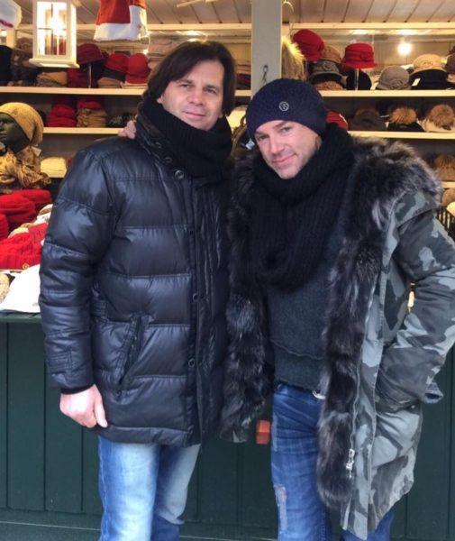Christian Schwarz mit Musical-Star und ALYSSA SCHWARZ AUSTRIA Mützen-Fan Uwe Kröger (Foto privat)