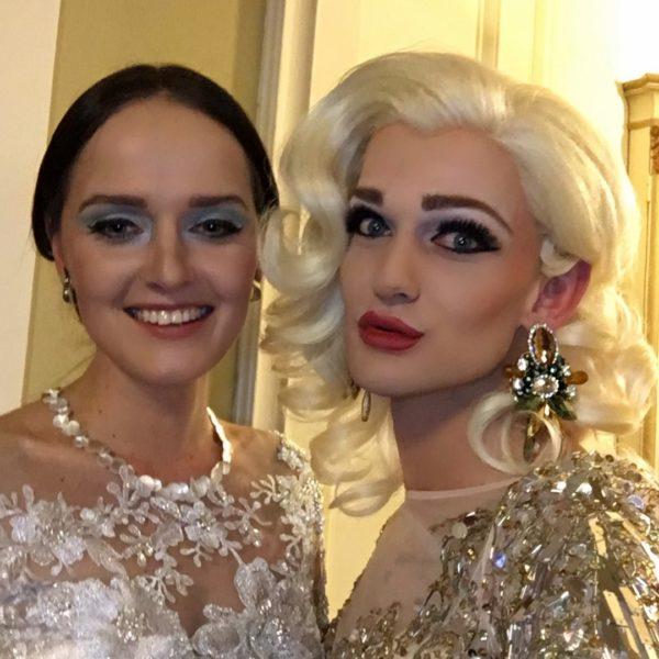Zwei erfolgreiche Steirer: Designerin Eva Poleschinski und HairStylist Christoph Skoff alias Gloria Hole (Foto privat)