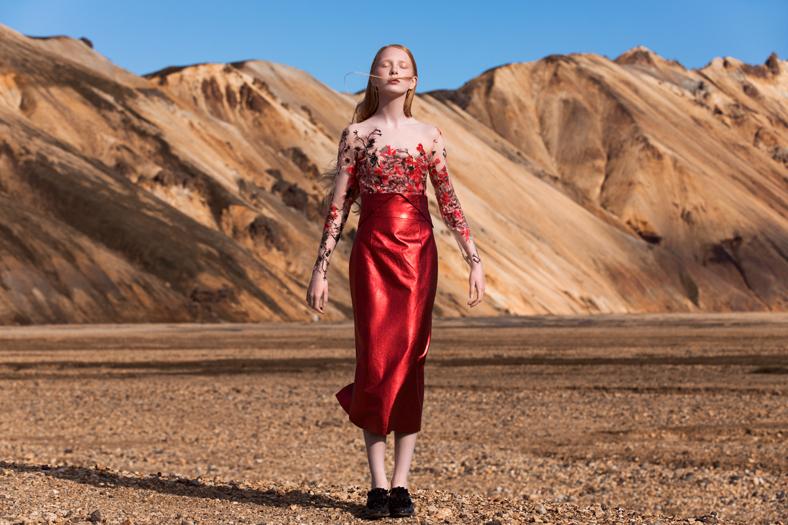 """Eva Poleschinski, die 2014 im Rahmen der Vienna Awards for Fashion & Lifestyle zur """"Designerin of the Year""""gekürt wurde, shootete ihre neue Kollektion im malerischen Island (Foto Oliver Rathschueler)"""