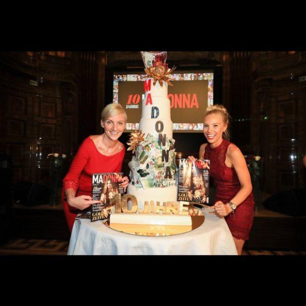Daniela Schimke und Jenny Magin feiern 10 Jahre MADONNA. Mit Daniela Schimke hat MADONNA seit 1. April eine neue Chefredakteurin sowie Co-Herausgeberin aller Magazine (Foto C. Kernmayer)