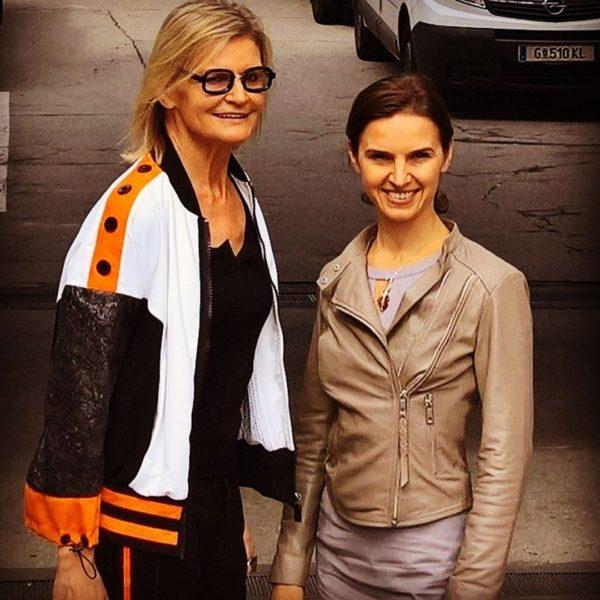 Journalistin und Bloggerin Hedi Grager traf die sympathische Grazer Chefdirigentin Oksana Lyniv ein paar Tage vor ihrem Eröffnungskonzert (Foto privat)