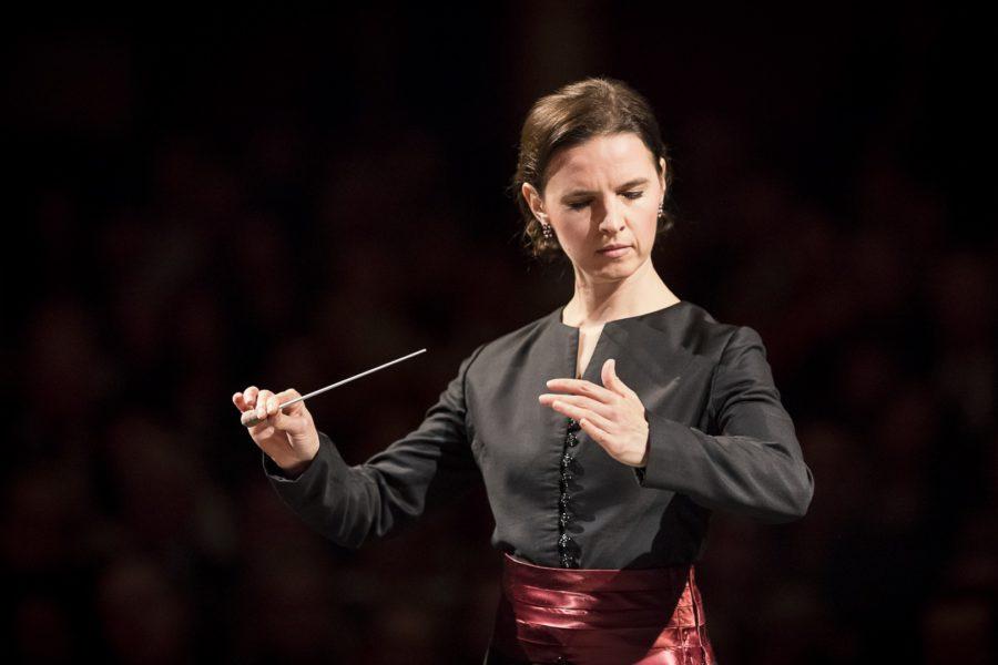 """""""Wirkliche Perfektion gibt es nie, aber man muss die Arbeit, die man macht, lieben und darin einen Sinn finden,"""" erklärt die Grazer Chefdirigentin Oksana Lyniv (Foto Werner Kmetitsch)"""