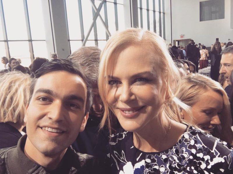 Nach der Show von Michael Kors auf der Fashion Week New York traf Philipp Brunner die Schauspielerin Nicole Kidman (Foto privat)
