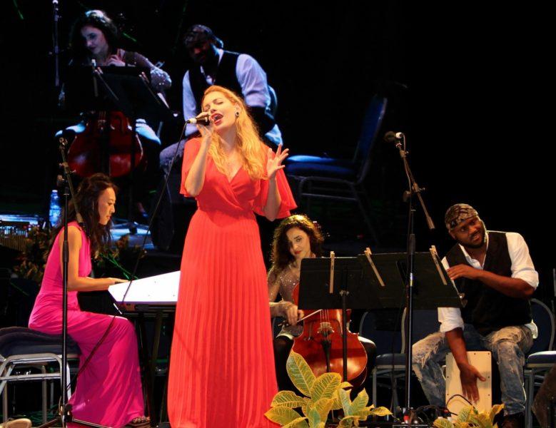 "Dalal performt mit Nate ""Impact"" Jolley, Elaine Kwon und Gjilberta Lucaj am Barbados Music Festival Classical Pops (Foto savoryoursenses)"