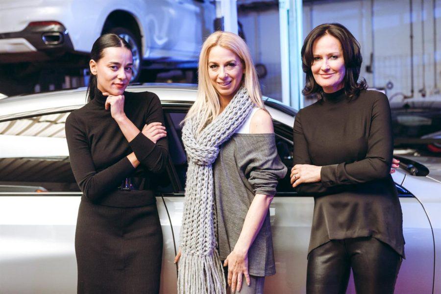 Edita Malovcic, Yvonne Rueff und Eva Glawischnig ließen sich diesen angenehmen Netzwerkabend bei BMW Wien nicht entgehen (Foto Philipp Lipiarski)