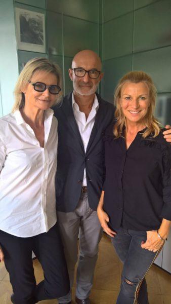 Beim Shooting der aktuellen Abend-Kollektion von Bettina Assinger für Jones hatte ich Gelegenheit, mit Doris Rose über Fashion und Familie zu sprechen (Foto privat)