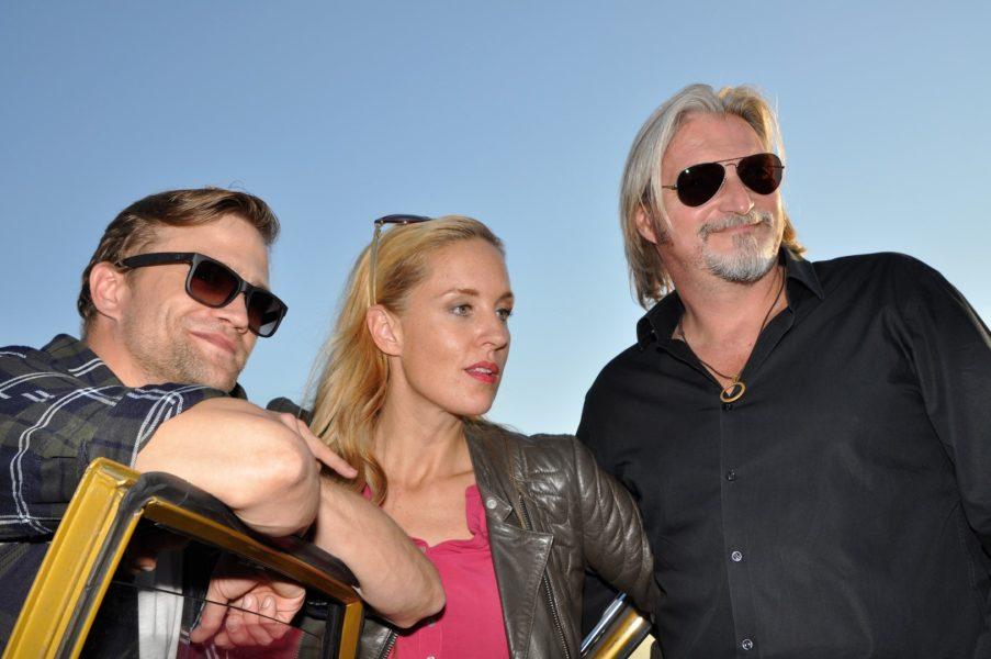 Lilian Klebow und Stefan Jürgens freuen sich immer über Dreharbeiten in der Steiermark und auch der 'Neue' Michael Steinocherist von Graz sehr angetan (Foto Reinhard Sudy)