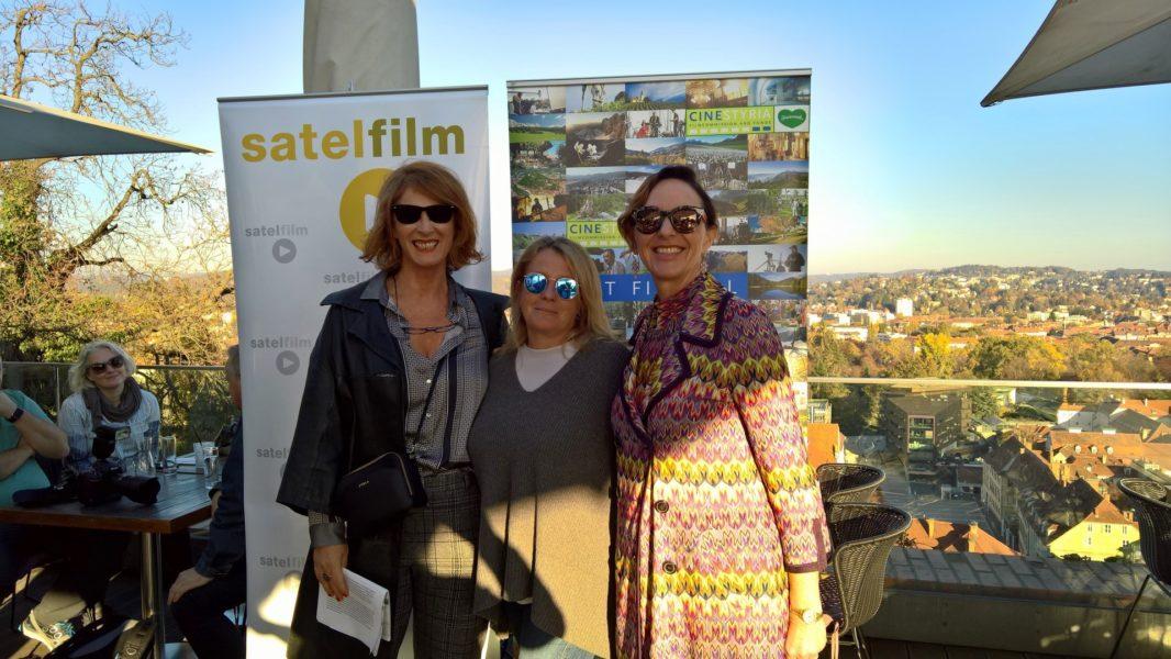 SATEL-Produzentin Bettina Kuhn, leitende ORF-Redakteurin Sabine Weber und SATEL-Produzentin Sonja Hofmann (Foto Reinhard Sudy)