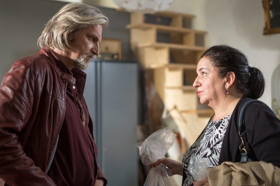 Stefan Jürgens beim Dreh mit Maria Happel in Folge 6 der 13. Staffel (Foto SATEL Petro Domenigg)