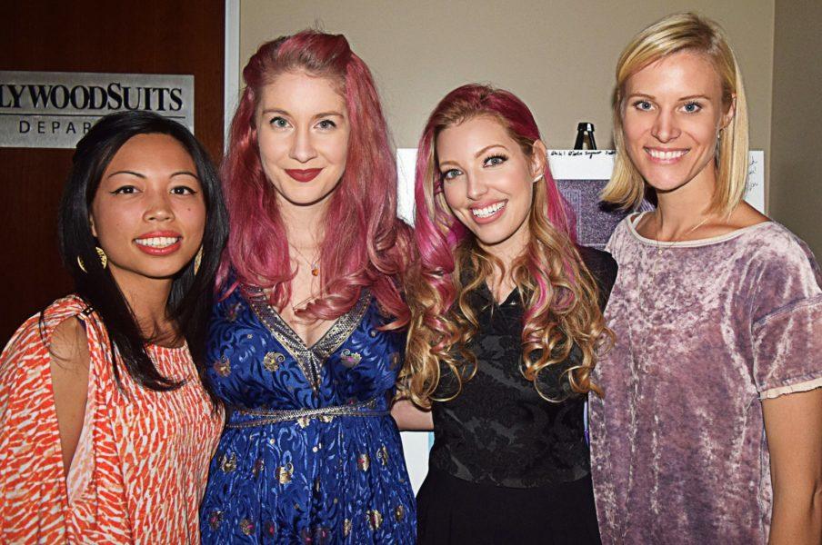 Dalal mit ihren Musikern v.li: Megan Shung Smith, Molly Rogers, Dalal Bruchmann und Annie Rosevear (Foto Adrian Jones)