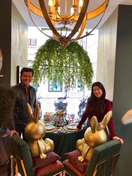 Aiola Chefin Judith Schwarz und Interior Designer Niki Veit waren für ihre Kunden auf der Suche nach dem Besonderen (Foto privat)