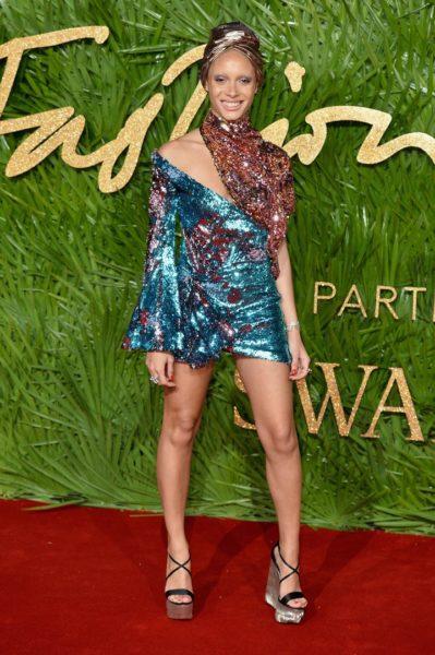 Adwoa Aboah wurde bei den Fashion Awards 2017 zum Model des Jahres gekürt (Photo by Jeff Spicer/BFC/Getty Images)