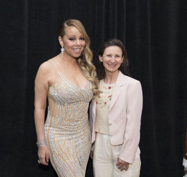 Barbara Gasser mit Weltstar Mariah Carey (Foto Magnus Sundholm for the HFPA)