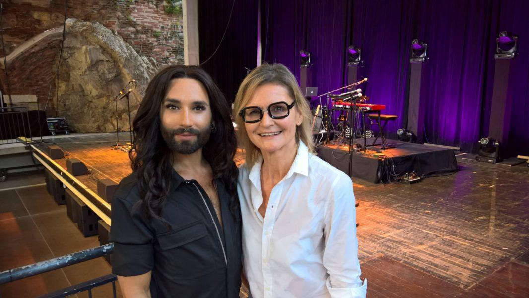 Conchita nahm sich vor ihrem Konzert auf den Grazer Kasematten Zeit für ein Interview mit mir (Foto privat)