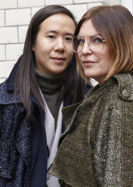 Kreativchefin und Geschäftsführerin von Andy Wolf Eyewear Katharina Schlager mit Designer William Fan (Foto Andy Wolf Eyewear)
