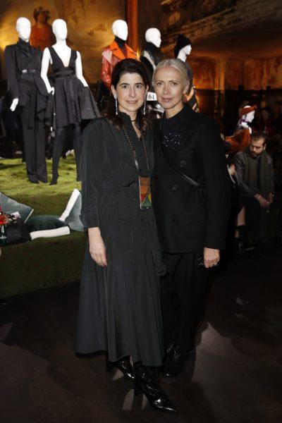 Dorothee Schumacher, hier mit Vogue-Chefin Christiane Arp, präsentierte ihre neue Herbst/Winter 2018/19 Kollektion in Berlin (Foto Dorothee Schumacher)