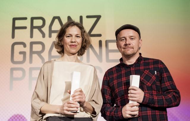 """Als bester Kinodokumentarfilm setzte sich Gwendolyn von Ruth Kaaserer durch, Preisträger in der Kategorie Fernsehdokumentarfilm ist """"Die Weltherrschaft"""" von Fritz Ofner und Michael Lenzinger (Foto Diagonale Miriam Raneburger)"""