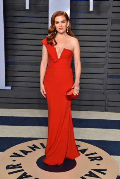 Schauspielerin Isla Fisher besuchte die Vanity Fair Oscar Party im Wallis Annenberg Center for the Performing Arts in Beverly Hills (Photo by John Shearer/Getty Images)