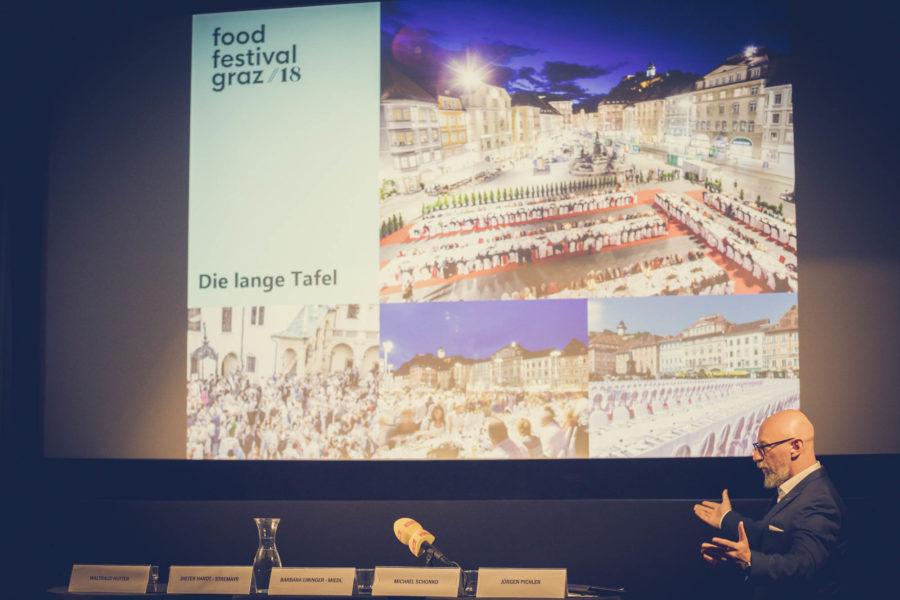 Jürgen Pichler, CEO von Rolling Pin, präsentiert begeistert die Highlights des Food Festival Graz (Foto rollingpin.com)