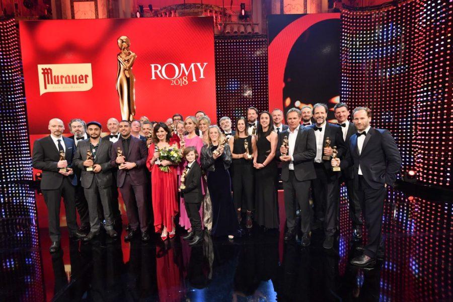 Die stolzen KURIER ROMY® Gewinner 2018 (Foto KURIER ROMY®)