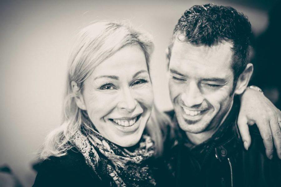 Bettina Dreißger mit Fotograf Mathias Kniepeiss (Foto Mateo Moem)
