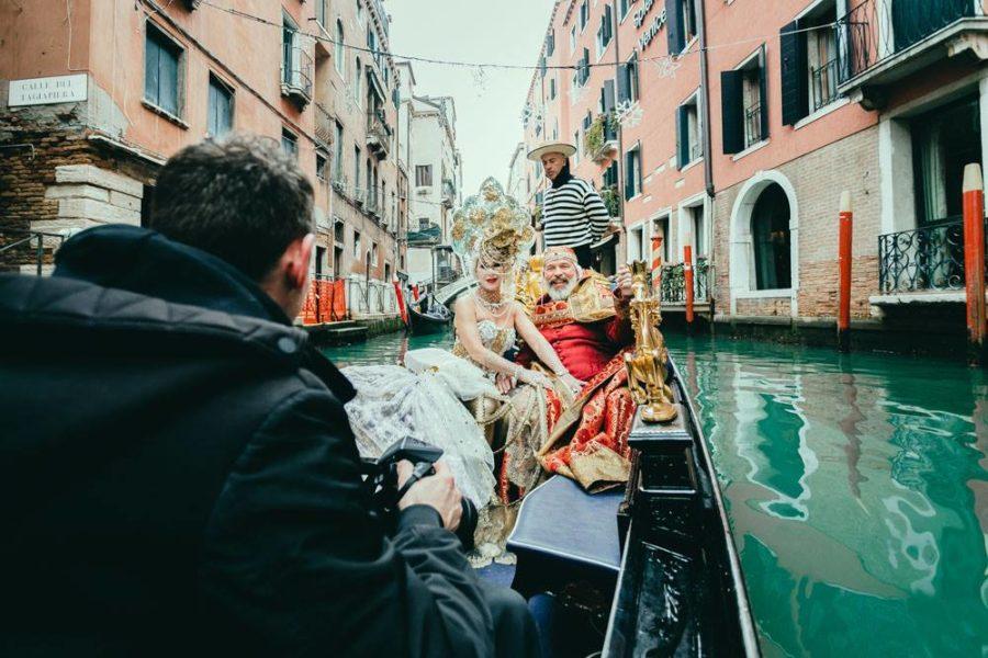 Natürlich durfte eine Fahrt in einer der berühmten Gondeln Venedigs nicht fehlen (Foto Susanne Hassler)