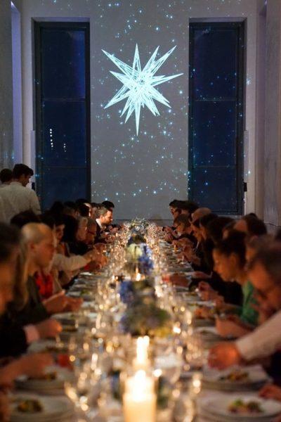 Nadja Swarovski und Daniel Libeskind feiern den neuen Swarovski Stern für den Weihnachtsbaum am Rockefeller Center (Foto Angela Pham/BFA.com)