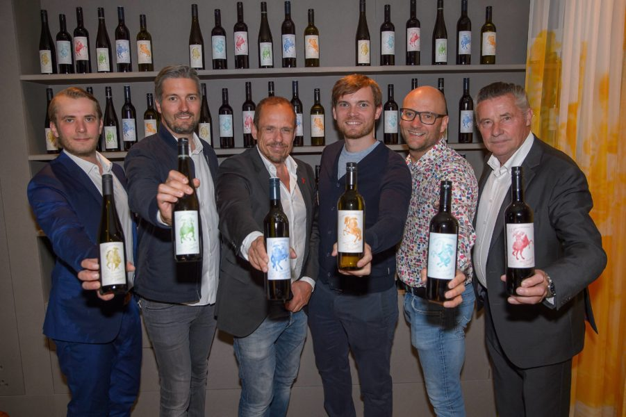 Gery Keszler, Michael Gross (Weingut Gross), Horst Gager (Weingut Gager), Johann Scheiblhofer (Weingut Scheiblhofer) (Foto Andreas Tischler)