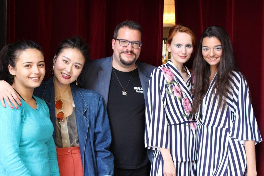 Die Visagistinnen Hung Ming Tzu und Sarah Bourchouk, Dominik Wachta sowie die Models Agatha & Anna, Agentur Allezmodels (Foto privat)