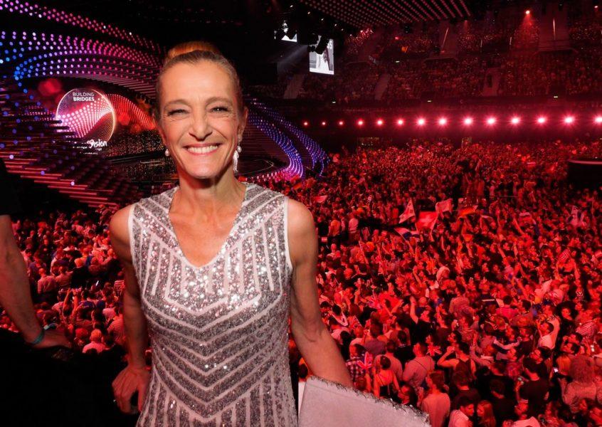 ORF-Fernsehdirektorin Mag. Kathrin Zechner beim Finale des 60. Eurovision Song Contest in der Wiener Stadthalle (Foto ORF/Roman Zach-Kiesling)