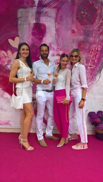 Miss Styria Justine Bullner, Miss Styria-Veranstalter Christian und Kerstin Zacharias und Journalistin und Bloggerin Hedi Grager (Foto Reinhard Sudy)