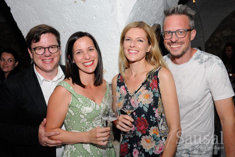 Sausal Revolution 18: Gerhard und Marion Wohlmuth, Jasmin Scheucher-Hack und Rainer Hack (Foto Weinbauverein Sausal)