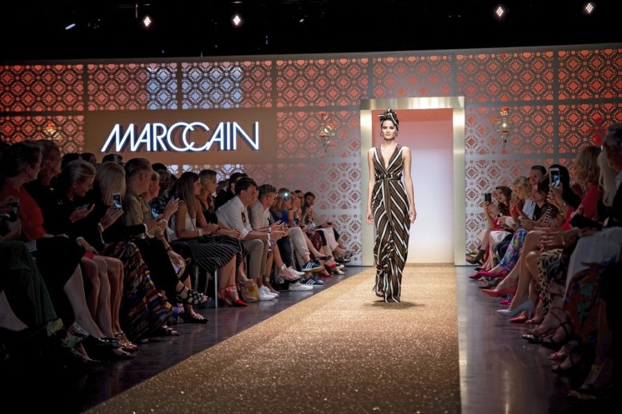 Marc Cain Fashion Show Spring/Summer 2019 at WEEC, Westhafen (Photo by Gisela Schober/Getty Images for Marc Cain)