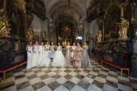 Designerin Eva Poleschinski sorgte mit einer fulminanten Opening-Show für den gebührenden Auftakt der 1. Hartbergerland Hochzeitsmesse. (Foto Rene Strasser)