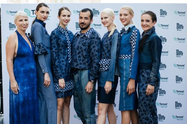 Jeder Look des Designers Juan Carlos Gordillo isteinzigartig: Eine gut gewählte Kombination von Stoffen und ansprechenden Rüschen-Details sowohl bei den engen Kleidern als auch bei den Oversize-Teilen (Foto Lenzing)