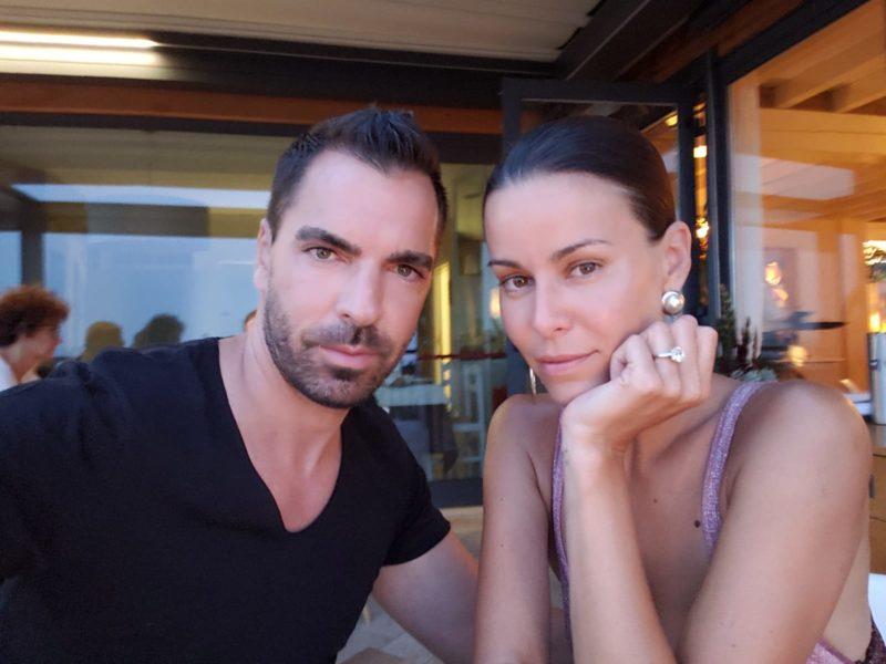 Immer an der Seite von Kari Ochsner ist seine große Liebe: Topmodel und Schuhdesignerin  Kerstin Lechner (Foto privat)