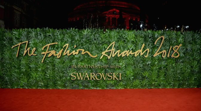 Swarovski offizieller Partner der Fashion Awards 2018