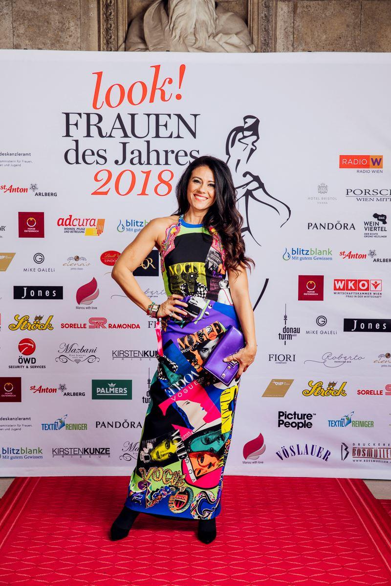 Guisy Versace, die Nichte von Gianni und Donatella Versace, nahm den Award in der Kategorie Woman of Excellence entgegen. Sieverlor bei einem Unfall beide Unterschenkel. Doch mit immenser Willenskraft startete sie in ein neues Leben. (Foto Stefan Diesner)