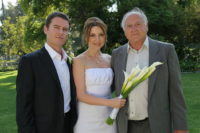 Ion Muj, Nicole Goesseringer Muj and father Siegfried (Photo private)