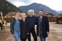 """ORF-Landkrimi """"Steirerkreuz"""": Miriam Stein, Gisela Schneeberger, Wolfgang Murnberger und Hary Prinz (Foto ORF/Allegro Film/Stefan Haring)"""