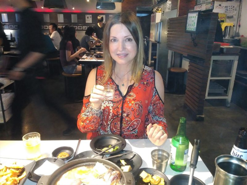 Nicole Muj at Eight Korean BBQ in Los Angeles (Photo private)