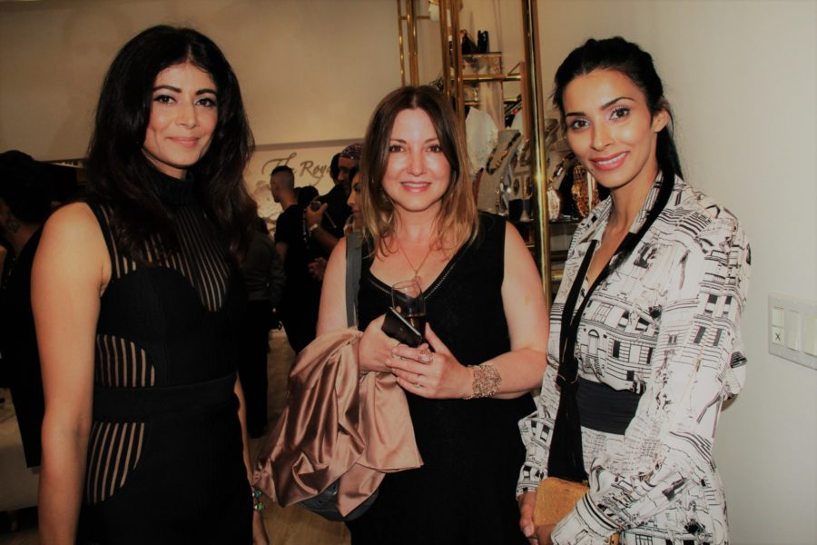 Nicole Muj with Pooja Batra and Paiy Hansra at Marie Westwood Magazine Launch Party at The Royals in Beverly Hills (Photo Clinton H. Wallace)