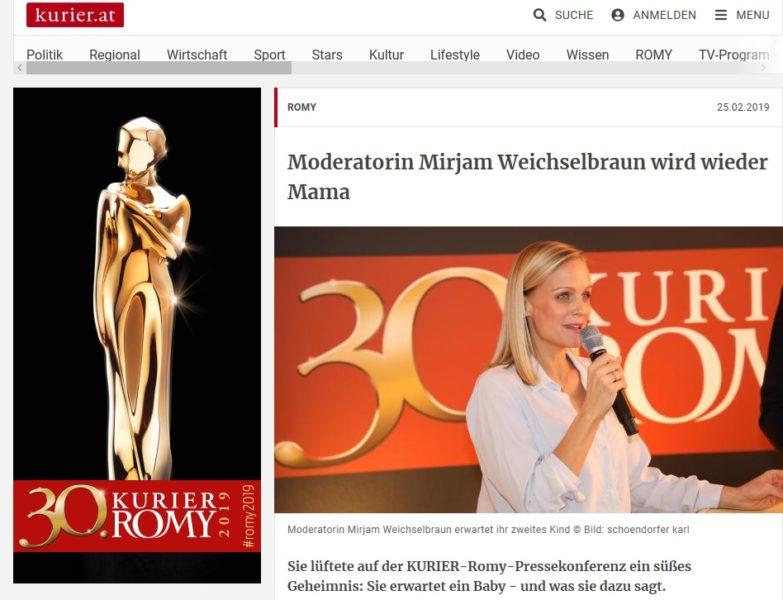 """Die 30. Romy Gala wird von Mirjam Weichselbraun moderiert. """"Die Jubiläums-ROMY® Gala steht ganz im Zeichen der legendären Schauspielerin. Für mich ist es eine Ehre, dass ich nach fünf Jahren Pause wieder durch die festliche Gala führen darf."""" (Foto Kurier/Karl Schoendorfer)"""