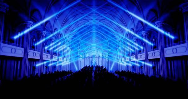 """Audiovisuelle Inszenierung """"Transfiguration"""": bei KLANGLICHT 2019 in der Oper Graz (Foto Onionlab)"""